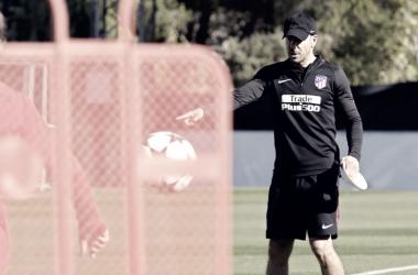 """Simeone: """"Es un orgullo para la gente del Atleti estar en una nueva semifinal europea"""""""