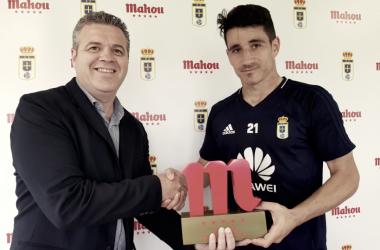 La afición escoge a su favorito: Saúl Berjón   Imagen: Real Oviedo