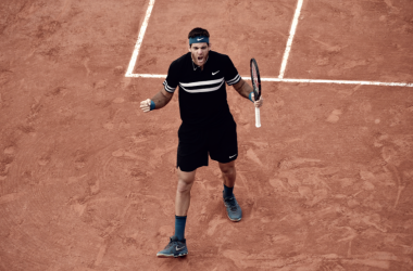 Rugido de gloria: Juan Martín de vuelta a cuartos en París. Foto: Prensa Roland Garros