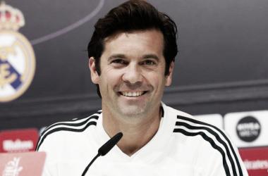 Santiago Solari en rueda de prensa. Foto: Real Madrid.