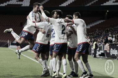 El Rayo Majadahonda celebrando un gol en el Wanda Metropolitano. Twitter: @RMajadahonda