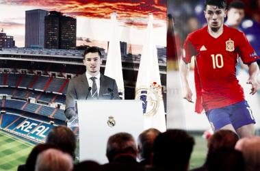 Brahim Díaz en el Palco de Honor del Santiago Bernabéu. Foto: Real Madrid.