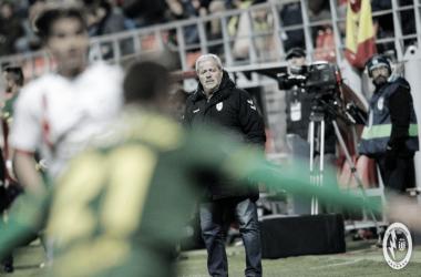 Antonio Iriondo en el partido frente a la UD Las Palmas. | Foto: R. Majadahonda
