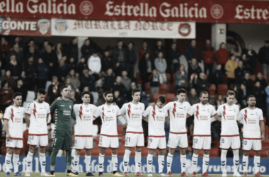 El equipo titular del Rayo Majadahonda que enfrentó al CD Lugo. www.laliga.es