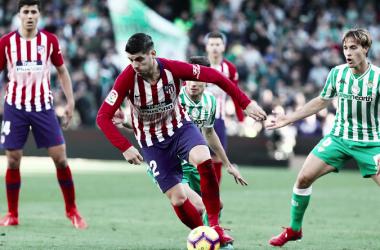 Álvaro Morata y su primer derbi como jugador del Atlético de Madrid