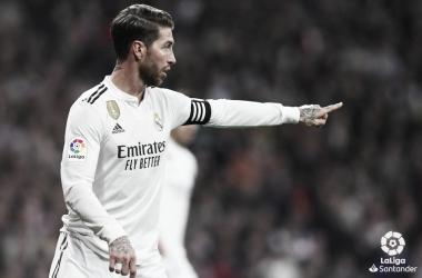 Sergio Ramos en el partido ante el Barcelona. Foto: Liga Santander.
