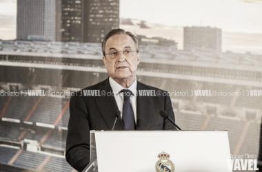 Florentino Pérez ante los medios de comunicación. Foto: Daniel Nieto (VAVEL).