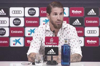 Sergio Ramos en rueda de prensa. Foto: Real Madrid.
