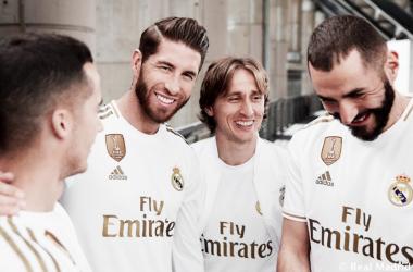 Los jugadores del Real Madrid ya portan la nueva camiseta. Foto: Real Madrid.