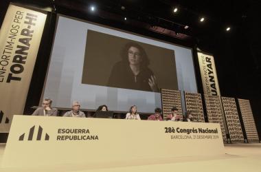 28 Congreso Nacional de ERC. Vía: Twitter Oficial de ERC.