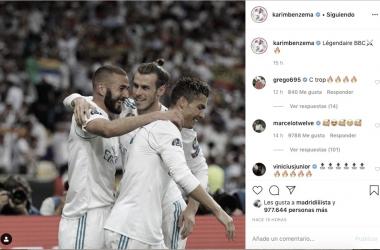 Karim Benzema recuerda la 'BBC'