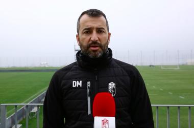 Diego Martínez atiende a los micrófonos del club.