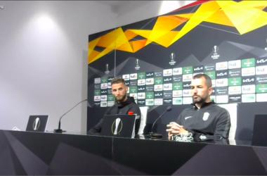 Domingos Duarte y Diego Martínez en rueda de prensa.