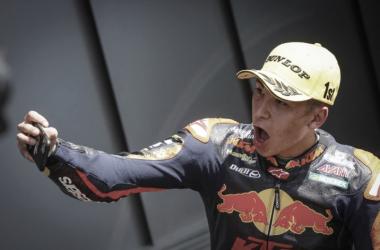 Raúl Fernández victoria en Portimao / Fuente: motogp.com