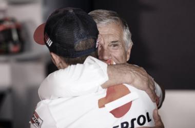 Giacomo Agostini y Marc Márquez / Fuente: motogp.com