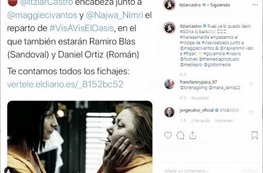 Itziar Castro confirma en su cuenta personal que formará parte del spin-off | Fuente: @itziarcastro