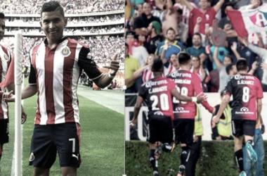 Pineda y Alustiza anotaron en los pasados Clásicos Tapatíos | Foto: ESTO y Televisa Deportes