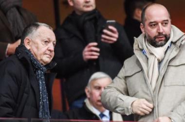 Jean-Michel Aulas et Gérard Lopez (Crédit : Getty Images)
