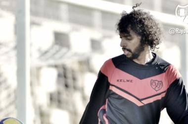 Abdulmajeed ejercitándose en la Ciudad Deportiva | Foto: Rayo Vallecano S.A.D.