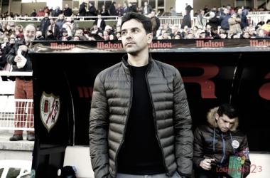 Michel durante un encuentro en el Estadio de Vallecas | Fotografía: La Liga