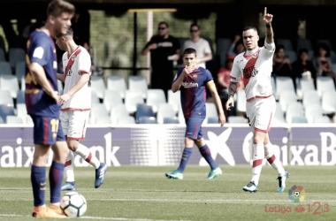 Raúl de Tomás celebrando el gol | Fotografía: La Liga