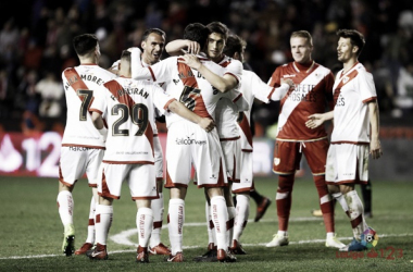 Jugadores del Rayo celebrando un gol | Fotografía: La Liga