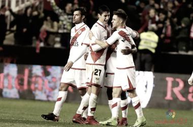 Celebración del gol de Bebé. Foto: Rayo Vallecano S.A.D.