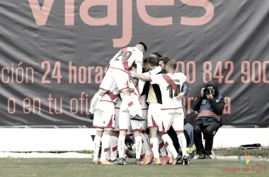 Jugadores del Rayo Vallecano celebrando un gol   Fotografía: La Liga