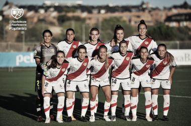 Formación del Rayo Femenino para el partido | Fotografía: Rayo Vallecano S.A.D.