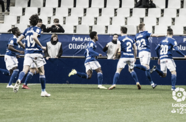 Jugadores del Real Oviedo celebrando un gol | La Liga 123