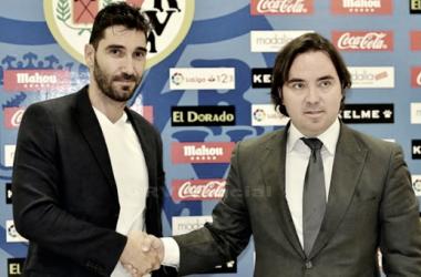 Cobeño junto a Martín Presa | Fotografía: Rayo Vallecano S.A.D.
