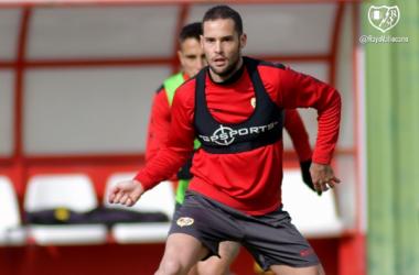 Mario Suárez durante un entrenamiento | Fotografía: Rayo Vallecano S.A.D.