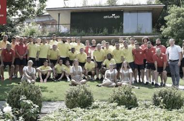 Jugadores del Rayo Vallecano en Austria | Fotografía: Rayo Vallecano S.A.D.