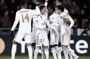 El Real Madrid celebra un gol en un partido de la UEFA Champions League | Foto: Real Madrid