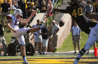Mizzou opened the scoring with a first quarter blocked punt for a safety - AP Photo/L.G. Patterson
