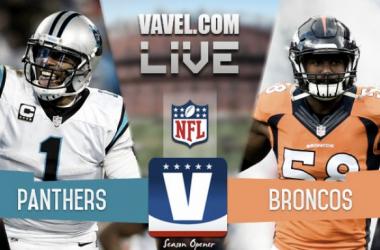 Score Carolina Panthers vs Denver Broncos of 2016 NFL