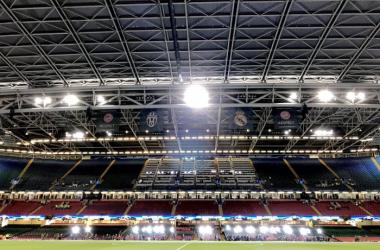 UEFA Champions League, atto finale - La vigilia a tre ore dal fischio d'inizio, brilla il Millennium Stadium