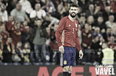 Piqué, uno de los blaugranas con España | Foto: Carla Cortés - VAVEL