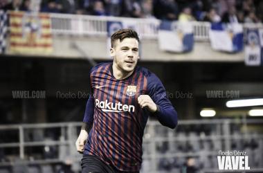 Carles Pérez ante el Sabadell | Foto: Noelia Déniz (VAVEL)