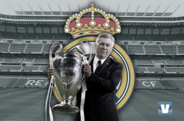 Carlo Ancelotti vuelve al Real Madrid con grandes números bajo el brazo. // Diseño: Paco Andújar -VAVEL