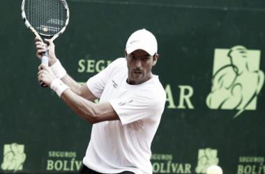 Carlos Salamanca, finalista de la III Copa Santiago Giraldo Foto: Tenis Seguros Bolivar