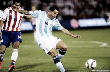 Carlitos fue la figura en un partido bastante pálido y brusco. Foto: Télam.