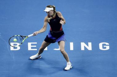 Wozniacki se cita con Sevastova en la final de Pekín