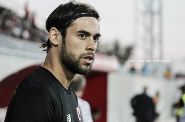 José Antonio Caro jugó bajo palos frente al Reus. Foto: Jaime Collado (VAVEL)