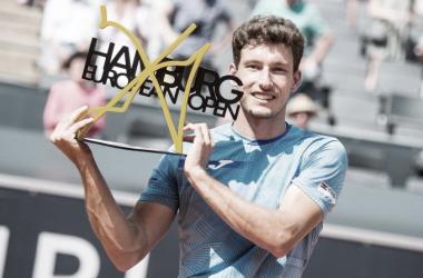 Pablo Carreño celebrando la victoria en el European Open. (Fuente: ATP Tour)