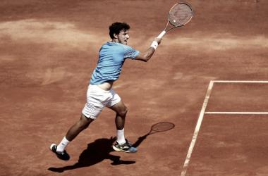 Pablo Carreño en un punto durante su participación en el torneo de Roma | Foto: zimbio.com