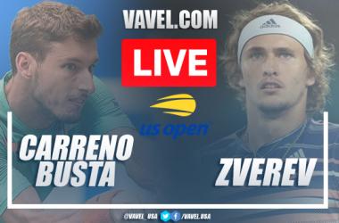 US Open: Pablo Carreno Busta vs Alexander Zverev Live Score and Stream