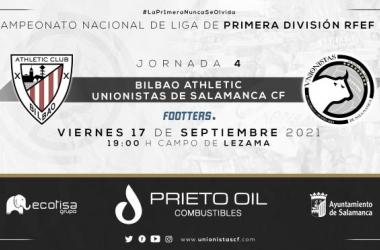 Bilbao Athletic - Unionistas CF. Foto: Unionistas CF