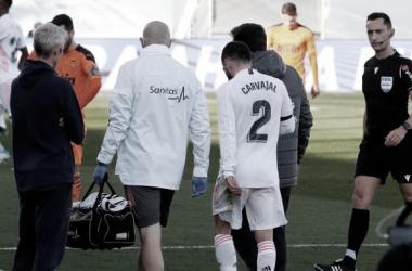 Carvajal volvió a lesionarse en su regreso