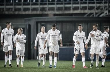 El Real Madrid celebra el gol frente al Atalanta. |Foto: @casemiro